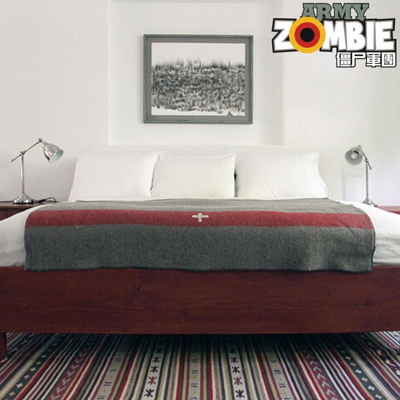 瑞士全新复古野营登山郊游户外急救保暖家居床单多功能纯羊毛毛毯