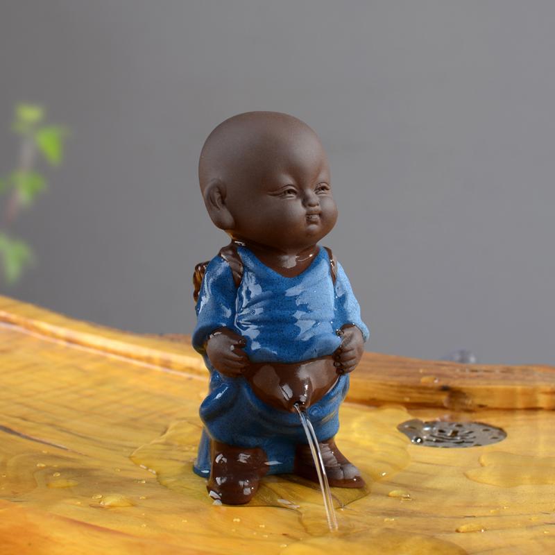 紫砂茶宠摆件精品 撒尿娃娃喷水尿童可养茶盘茶玩摆设茶具配件