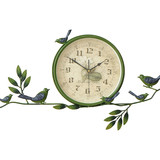 Pastoral creative wall clock home living room bedroom round personality decorative clock simple mute European country clock