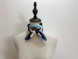 新款红蓝条纹小方巾女工装职业工作服丝巾 韩版领巾 春秋装饰围巾