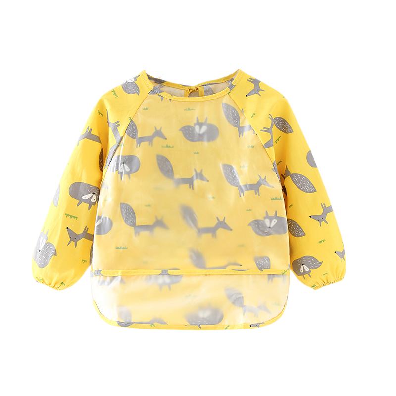宝宝婴儿吃饭罩衣围兜饭兜防水防脏薄款无袖夏天儿童围裙棉反穿衣