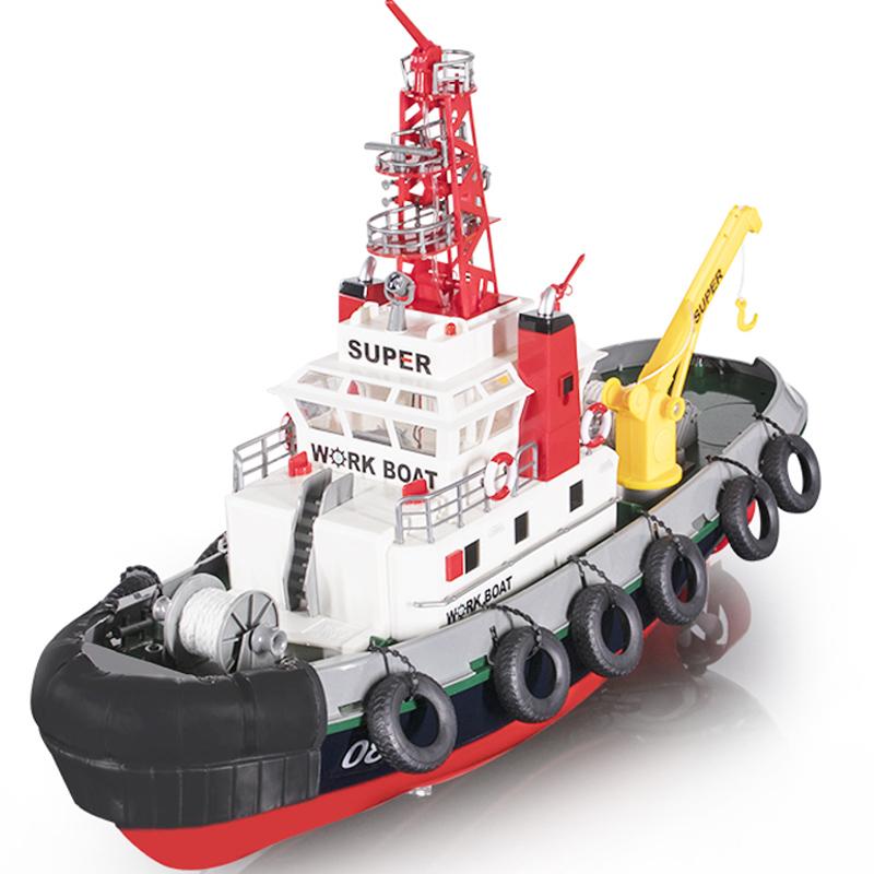 仿真船美国消防船仿真遥控船逼真喷水功能船模礼品模型玩具 3810