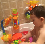 Baby bath toy electric water spray sunflower shower sun flower children playing in the water girl boys bathroom play water