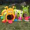 幼儿园毛毛虫小精灵隧道钻洞快乐火车组隧道爬行玩具塑料钻圈