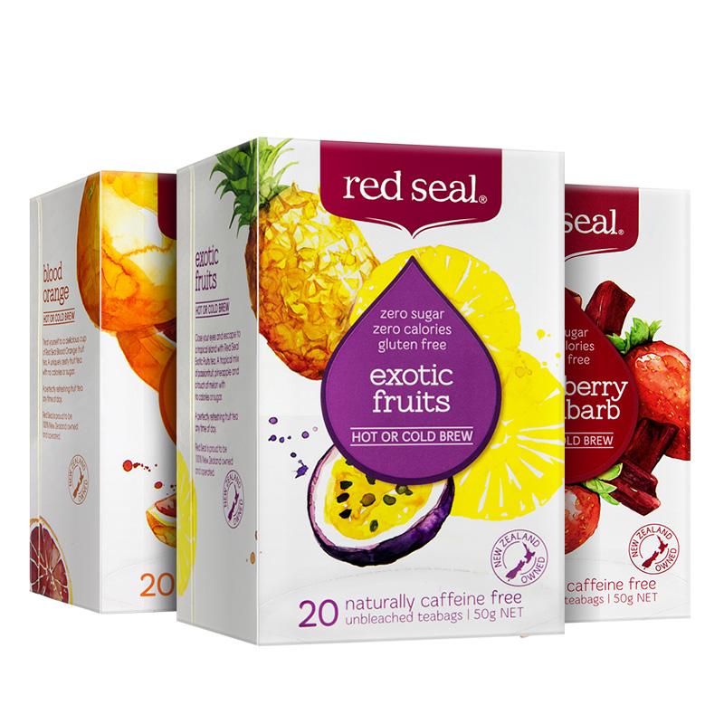 【60包】红印新西兰进口水果茶美颜无糖花草果茶组合覆盆子茶