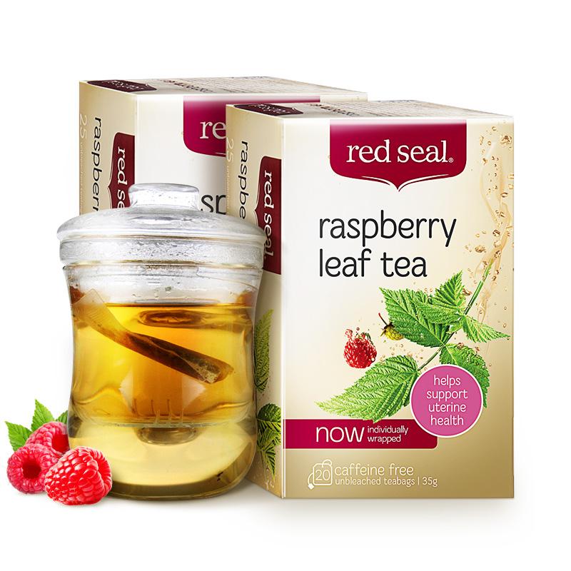 软化宫颈助产孕妇茶新西兰进口 红印覆盆子叶茶 seal red 盒 2