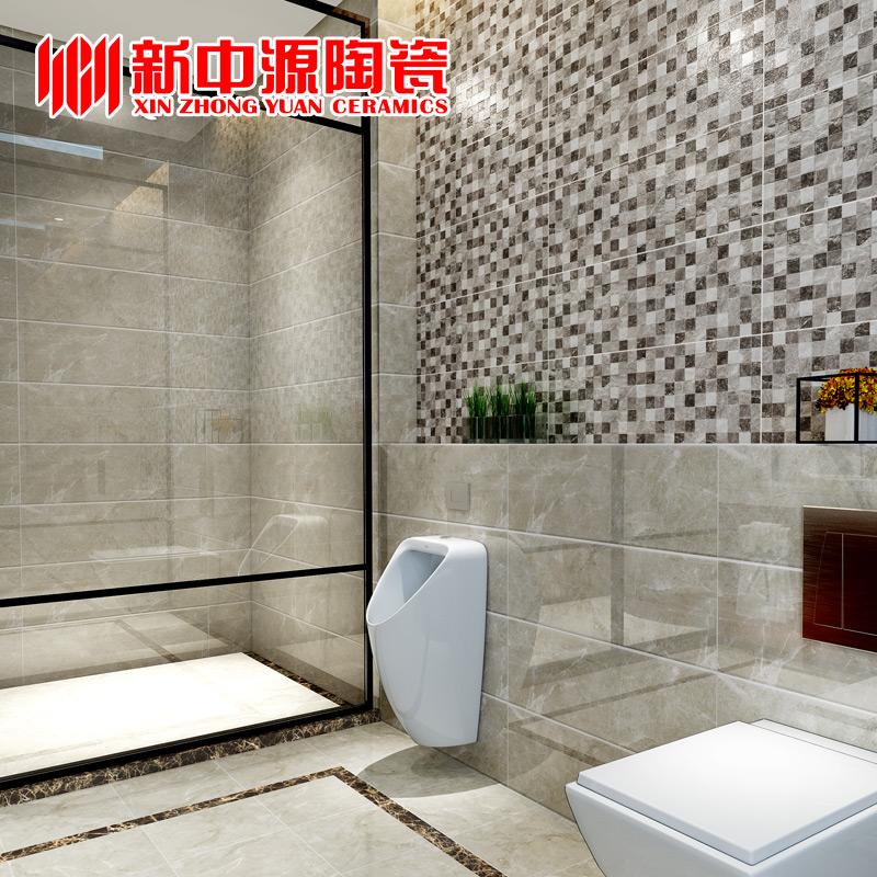 新中源防滑地砖卫生间瓷砖地砖欧式厨房墙砖250x750灰色瓷砖25036