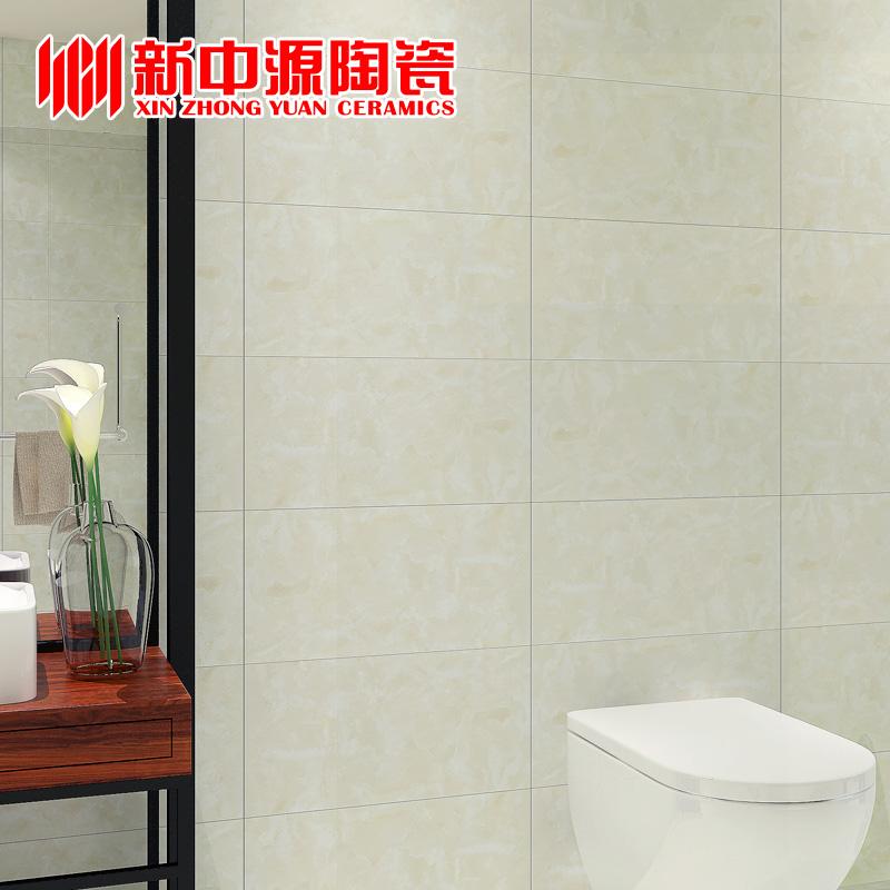 新中源简约厨房卫生间瓷砖地砖墙砖300x600厕所防滑地板砖6002