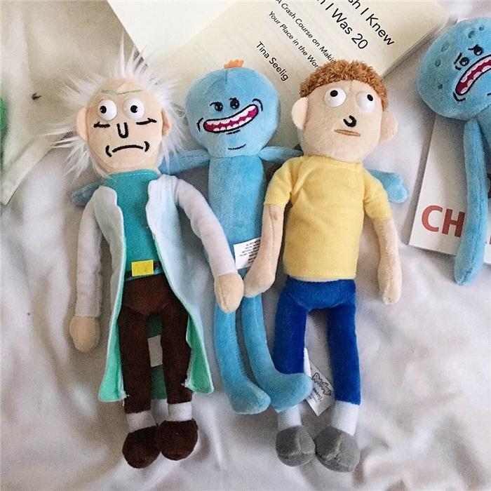沮丧小人使命必达毛绒玩偶趣味公仔礼物 morty 创意蓝色卡通公仔