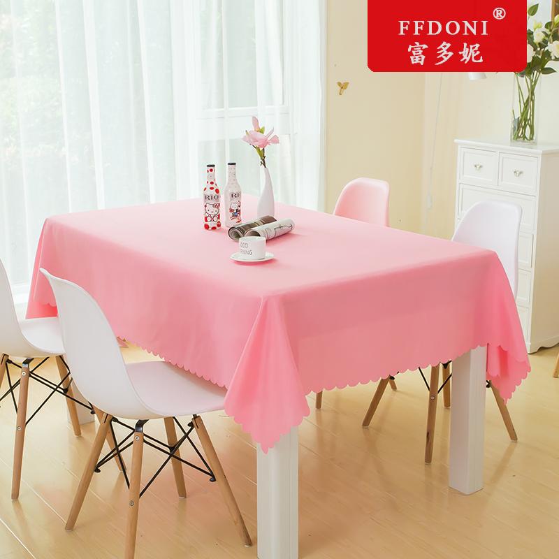 酒店圆桌桌布布艺ins展会家用饭店布长方形台布桌垫会议桌布定制