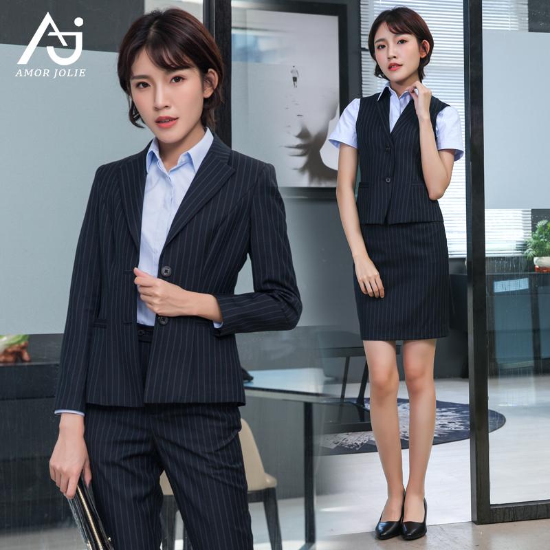 建行工作服女行服裤子裙子短袖衬衫马甲西装银行服装外套职业套装