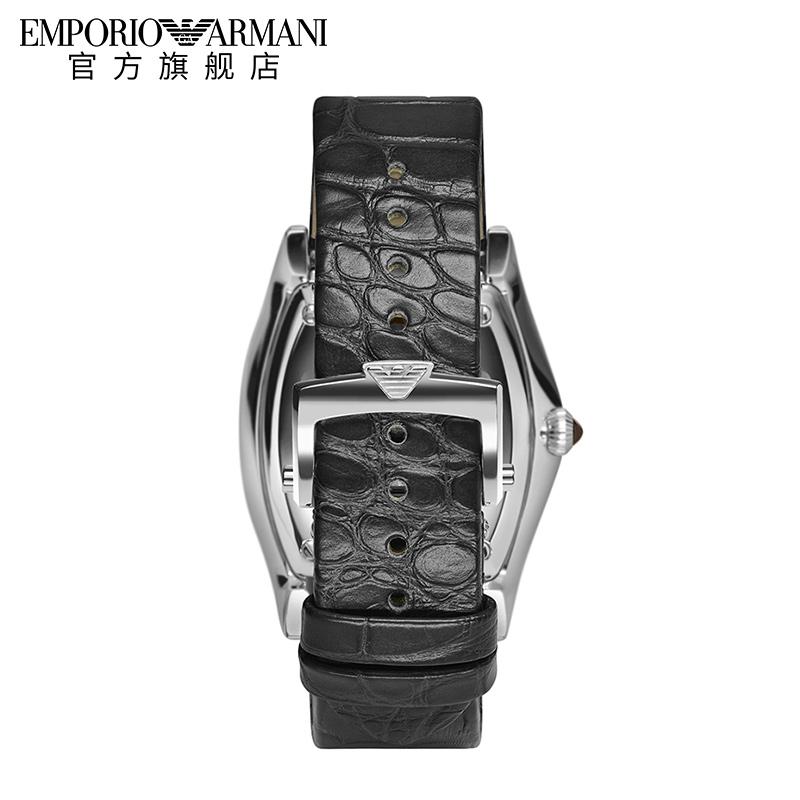 Armani阿玛尼镂空机械表男真皮表带小方表男士瑞士腕表潮ARS3352