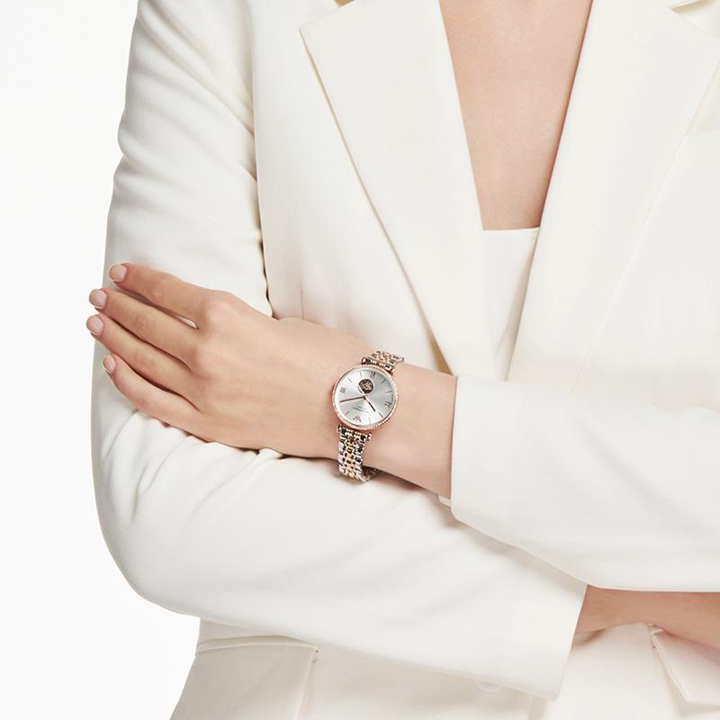 Armani阿玛尼满天星手表女2020年新款小众轻奢镂空机械表AR60019