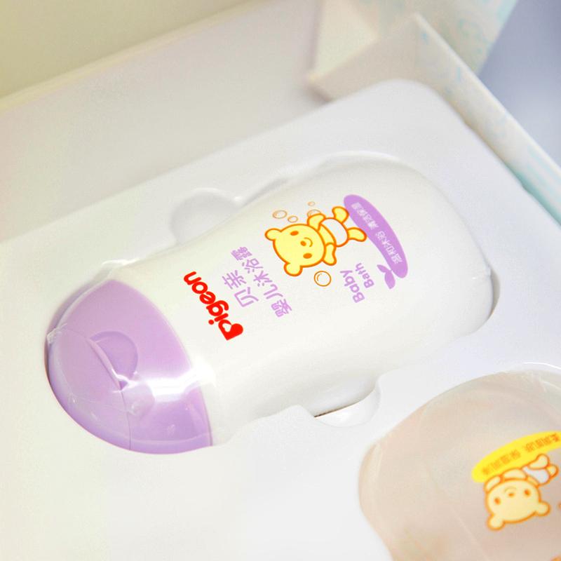 贝亲婴儿润肤露爽身粉洗发水沐浴露洗护套装 清洁护肤礼盒