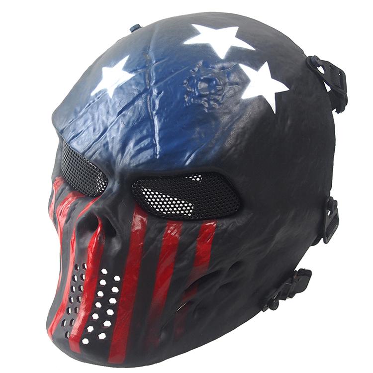 酋長M06-M01骷髏面具 殭屍野戰裝備 全臉骷髏戰士面罩 迷彩個性