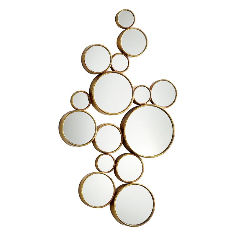 圆形美式镜组合玄关镜客厅墙面装饰镜子欧式艺术镜壁挂背景墙创意