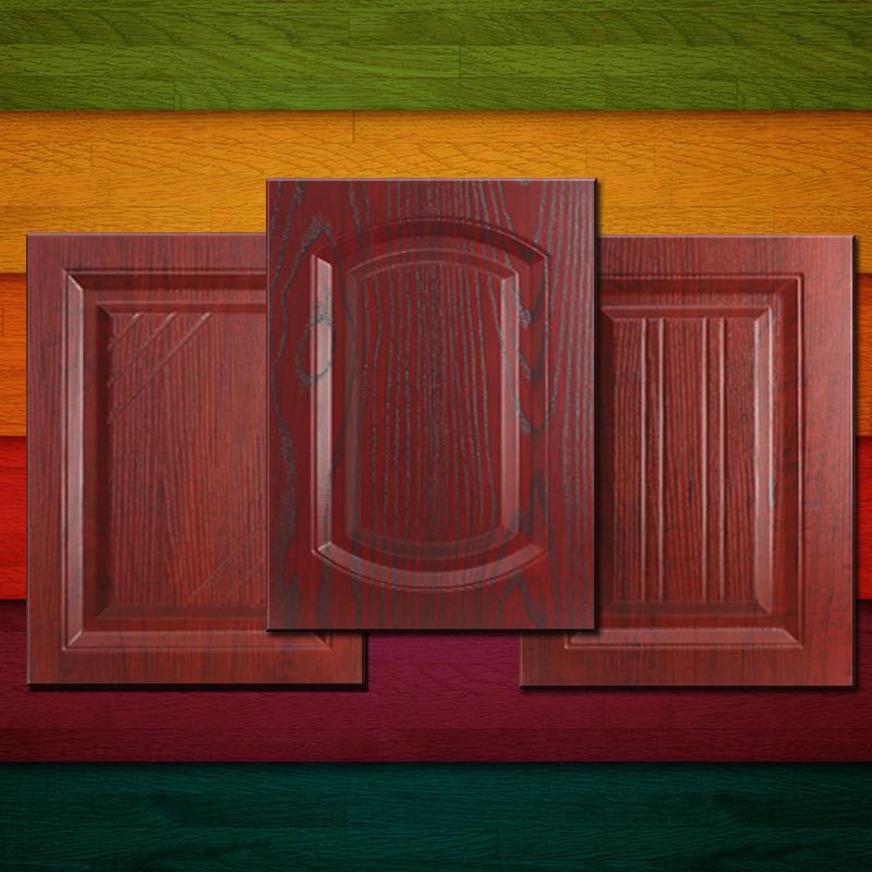 欧式橱柜门板定做pvc吸塑模压门色卡 衣柜门酒柜鞋柜门厨房厨柜门