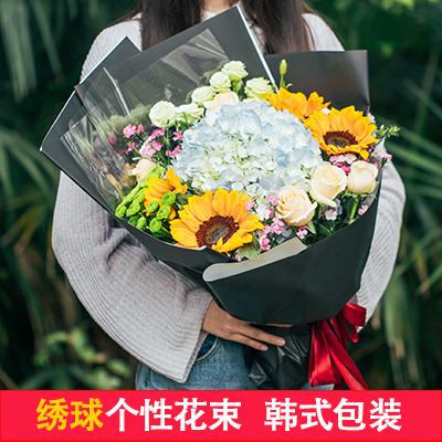 郴州鮮花店同城速遞生日表白紅玫瑰康乃馨花束禮盒北湖蘇仙區送花