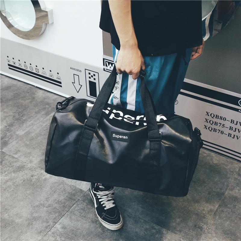 短途旅行包女手提鞋位行李包男韩版大容量旅行袋防水运动健身包潮