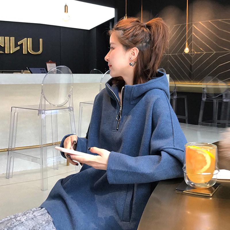 精品香港潮牌cec纯棉卫衣女韩版连帽慵懒风薄款秋冬季宽松外套