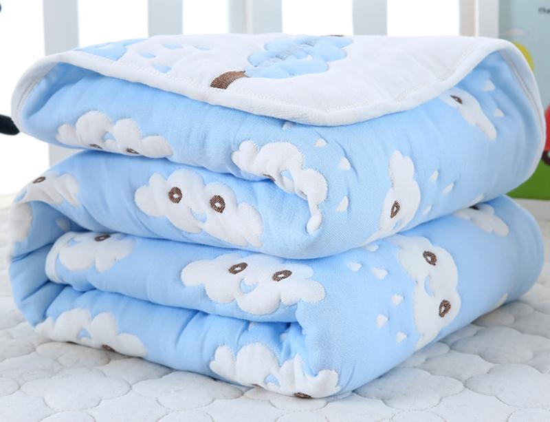 夏季婴儿毯子纯棉被子10层纱布盖被加厚宝宝盖毯浴巾毛巾被空调被