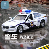 Children alloy police car model simulation baby boy police ambulance police car pull back toy car
