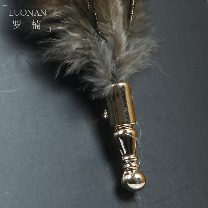 羽毛领针原创设计西装领装饰男士配件新郎伴郎结婚婚礼正装礼盒