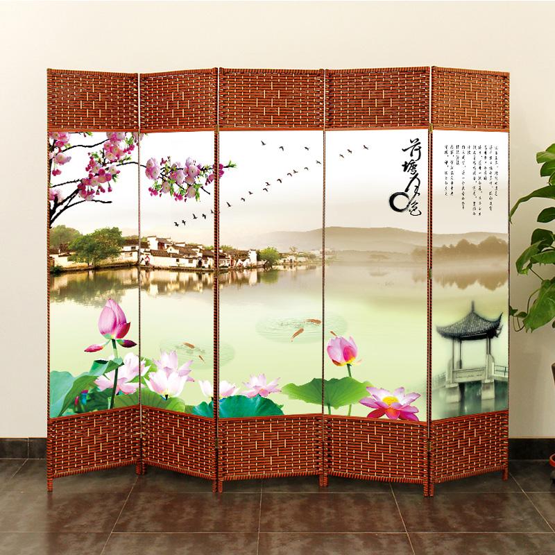 屏风隔断简易折叠客厅玄关墙移动折屏现代简约时尚办公室实木中式