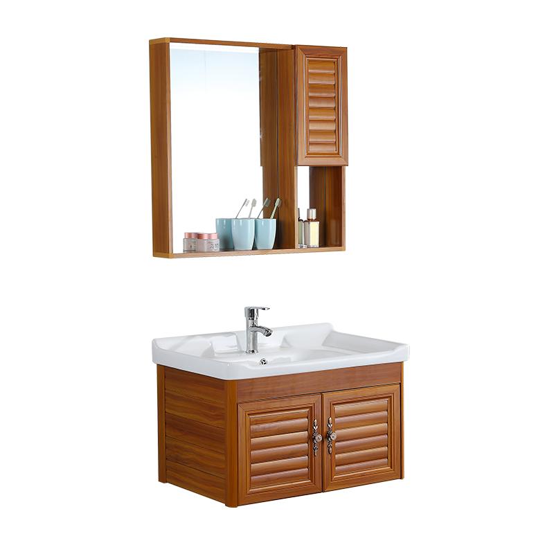太空鋁合金浴室吊柜組合小戶型洗臉臺盆陽臺洗手盆簡約現代洗漱臺