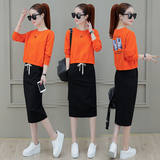 Temperament suit skirt female 2019 spring new women's Korean version of the super fire foreign gas dress spring and autumn two sets of tide