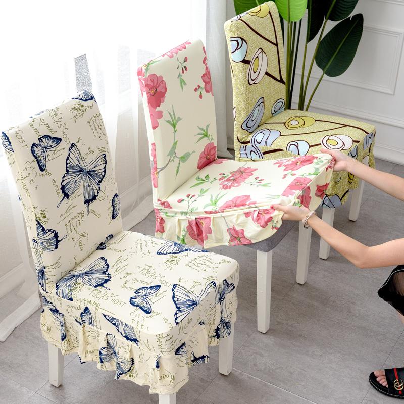 家用弹力连体餐桌椅子套罩现代简约凳子套罩酒店餐椅垫套装通用
