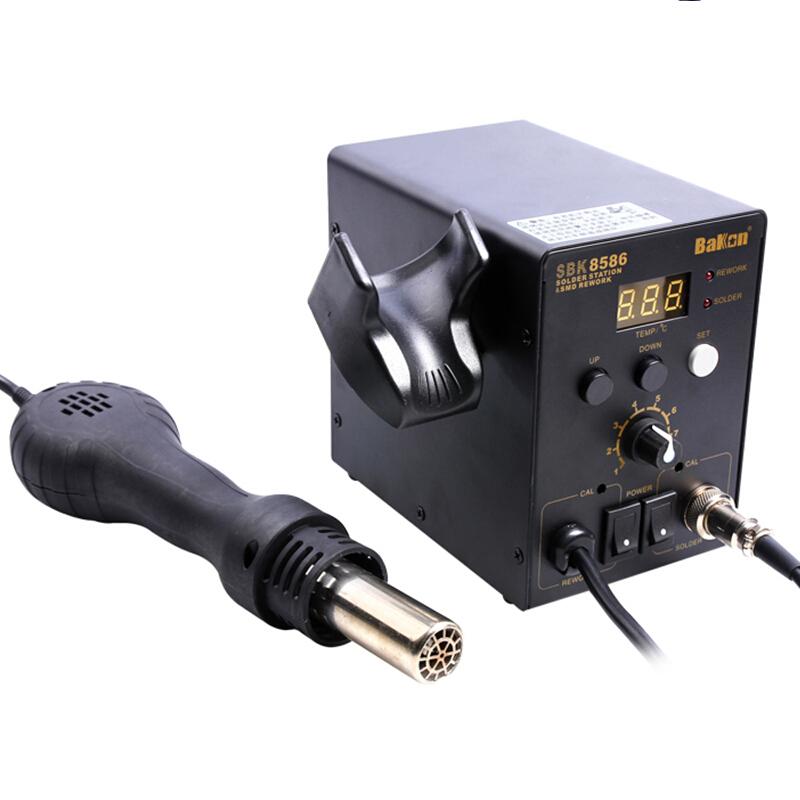 白光SBK8586热风拆焊台二合一维修热风枪 电烙铁 恒温 可调温焊台