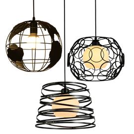餐厅吊灯三头简约现代创意个性工业风吧台卧室小过道床头北欧灯具