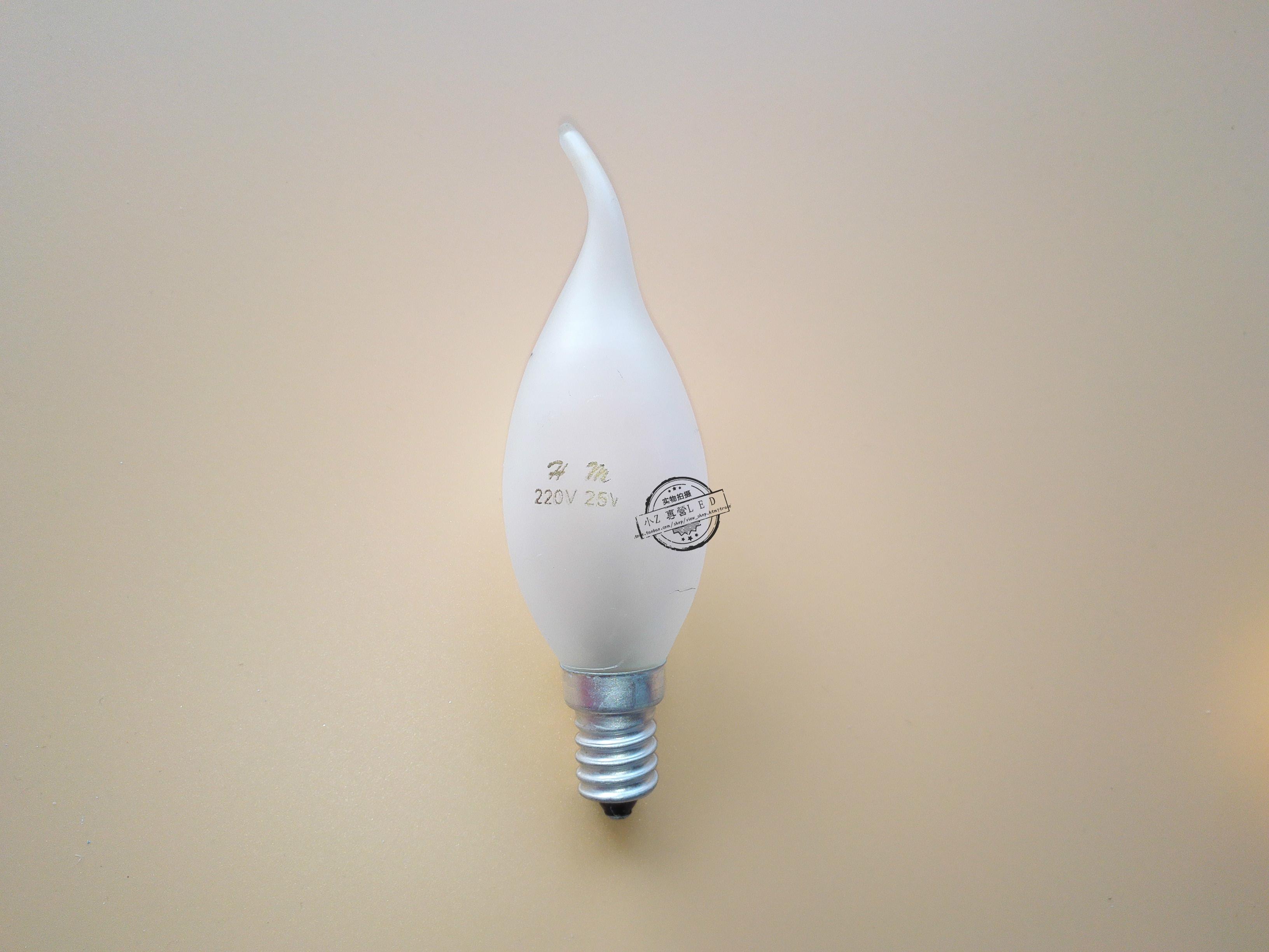 E14小螺口尖泡蜡烛泡钨丝灯泡照明光源 5w水晶灯专用装饰灯泡