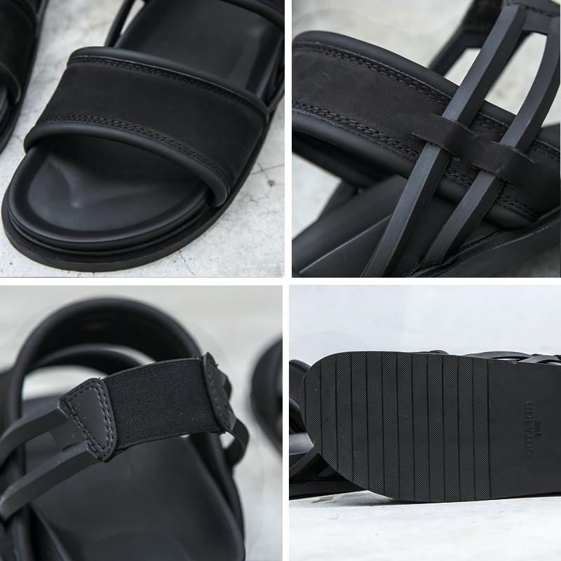男士凉鞋潮2019新款夏季韩版潮流真皮个性露趾时尚软底罗马凉鞋男