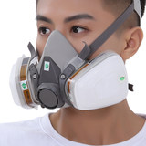 3M gas mask 6200 dust mask spray paint special formaldehyde gas chemical polishing coal mine activated carbon mask