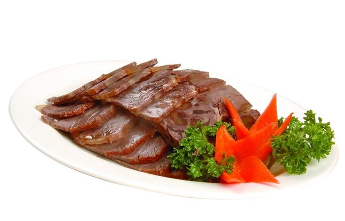 聚宝源牛街外卖窗口清真熟食酱牛腱子半斤牛肉酱香不塞牙闪送顺丰