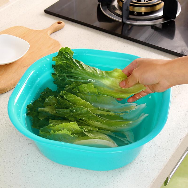家用方形加厚塑料脸盆婴儿洗脸盆洗衣服盆子大号小号洗菜盆洗衣盆