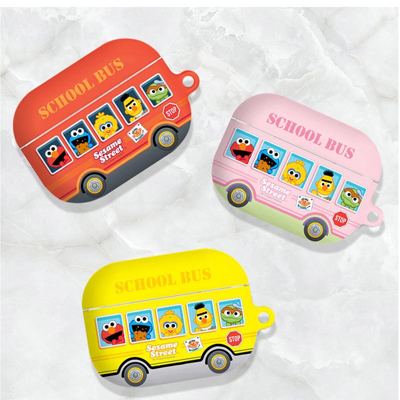韩国正品芝麻街校车适用苹果AirPods Pro3代保护套蓝牙耳机包硬壳