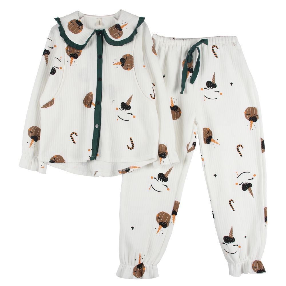 月子服春秋纯棉哺乳衣家居服秋冬季产后喂奶套装出院产妇孕妇睡衣