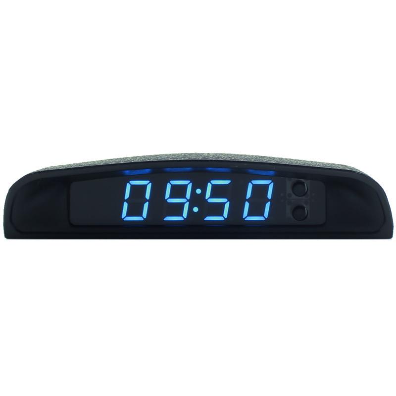 原车级车载电子钟表汽车LED电子时钟夜光车内外温度计车用电压计