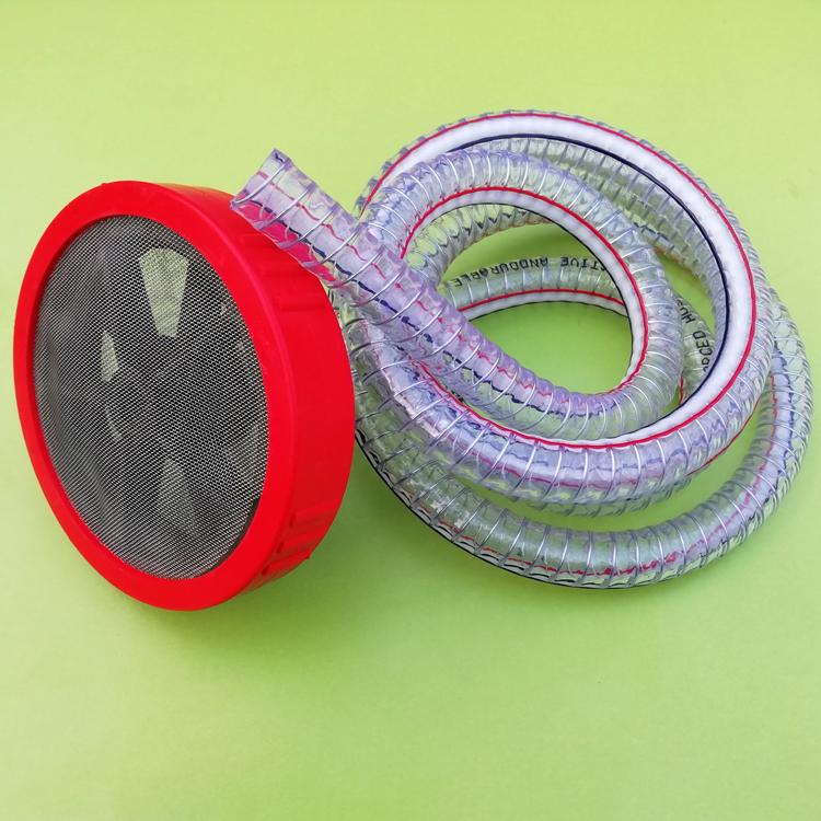 高压清洗车机配件自吸进水管螺母过滤网球加钢丝抽水380奶嘴接头