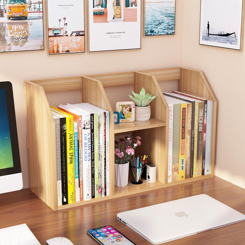 简易书架桌上学生用儿童办公桌宿舍小书柜书桌收纳置物架桌面