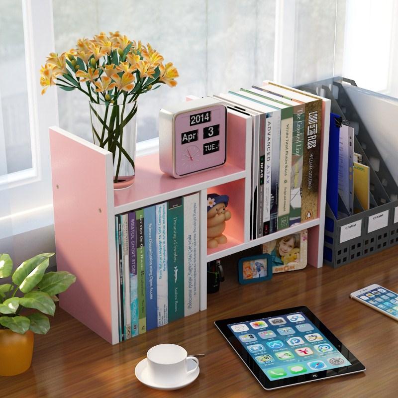 书架简易桌上置物架儿童组合书桌面收纳学生用宿舍小书柜简约现代