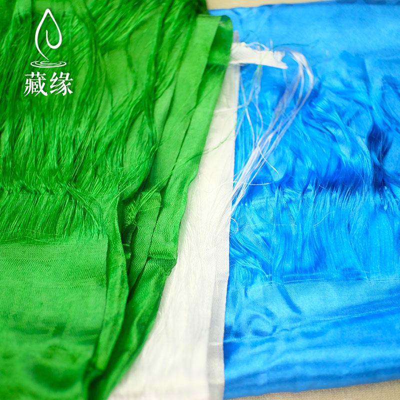 八吉祥提花五色哈达藏族饰品礼仪用品厂家直销1.8M*20CM批量发