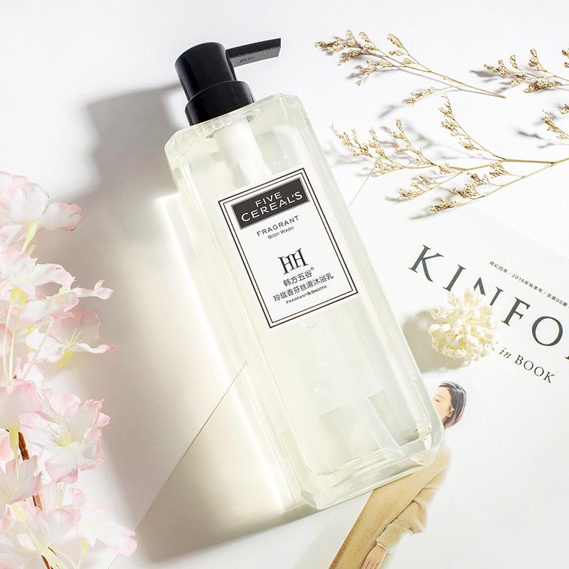 韓方五谷香水沐浴露持久留香家庭裝沐浴液男女香氛通用網紅香體乳