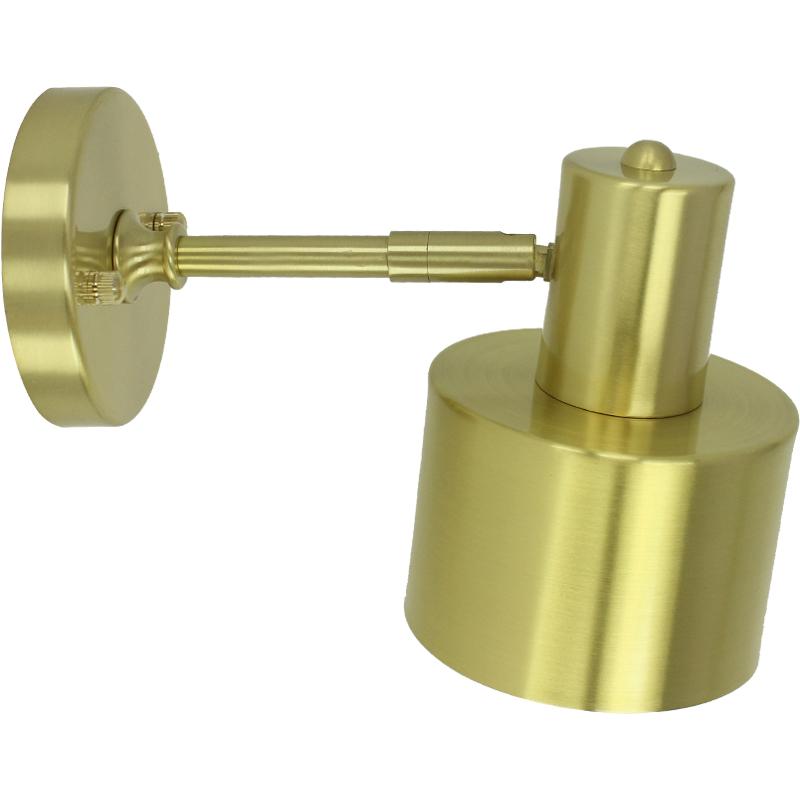 黄铜壁灯变光北欧摇头后现代金色纯铜阅读过道卧室床头化妆镜灯具