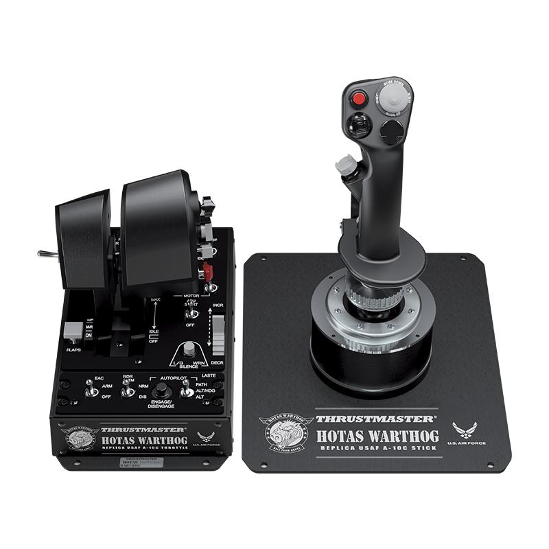 Thrustmaster图马思特a10c金属战斗机飞行模拟摇杆游戏油门双手杆