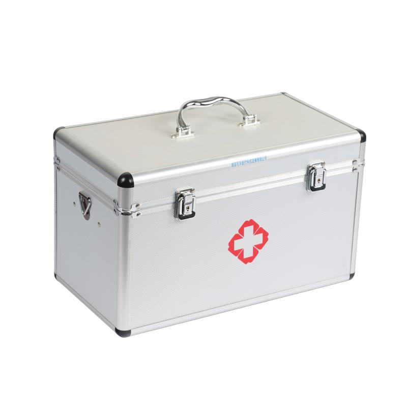 可孚医药箱家庭装大容量收纳医药急救箱家用带锁医疗用品箱收纳盒