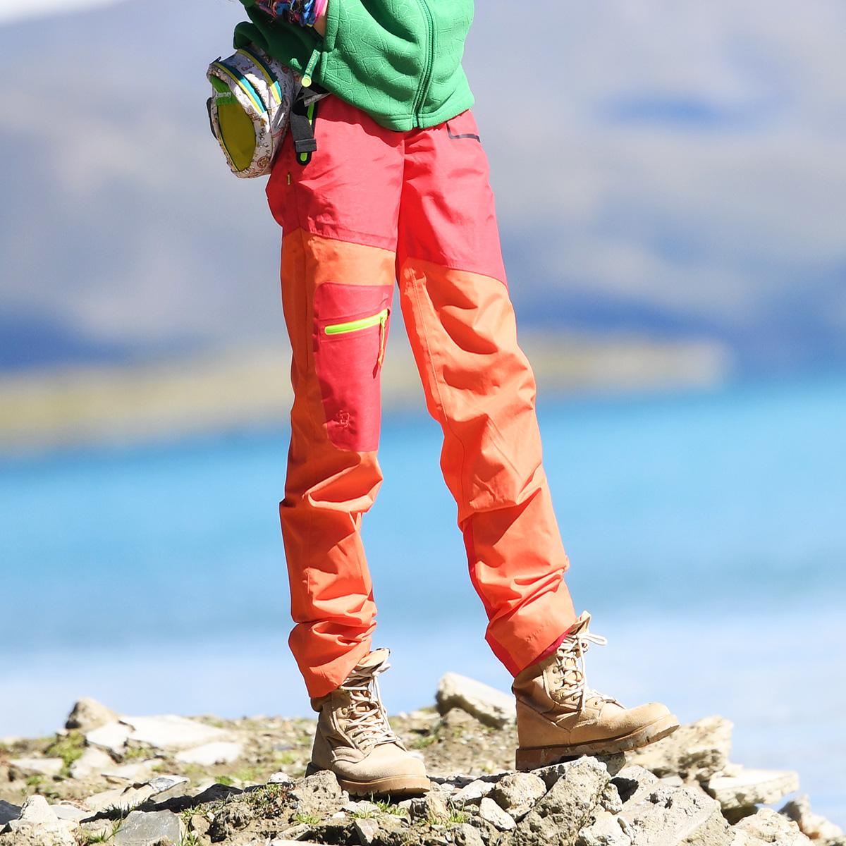 北京森林戶外冬季專業級衝鋒褲單衝褲登山褲防水透氣抗風拼色女